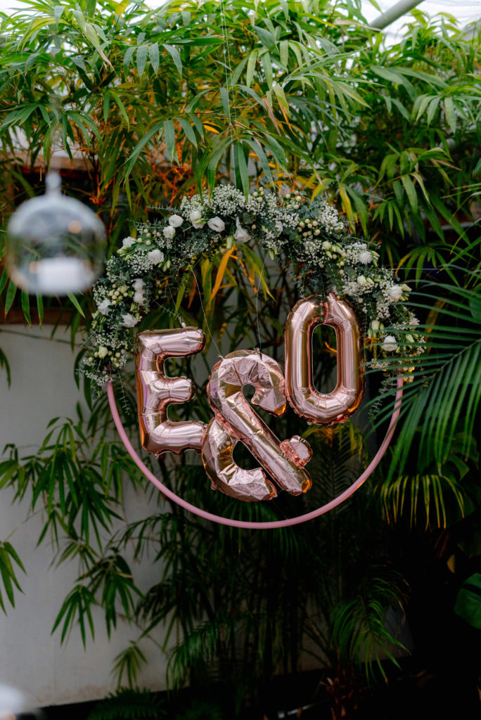 flowerhoop mit Buchstaben
