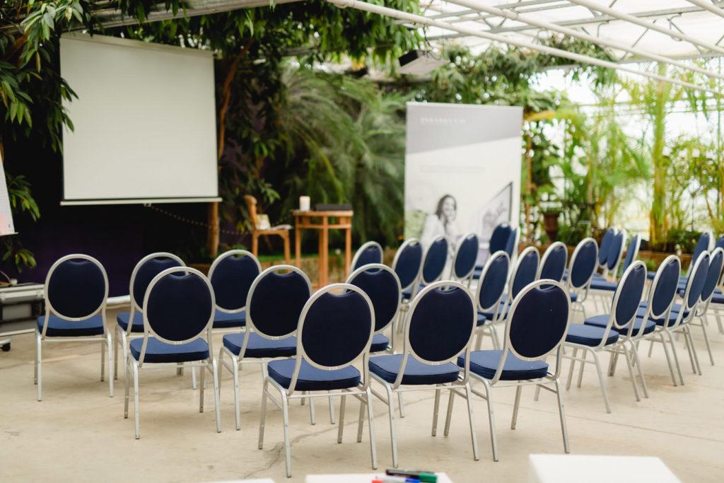 workshop und tagung im glasgewaechshaus